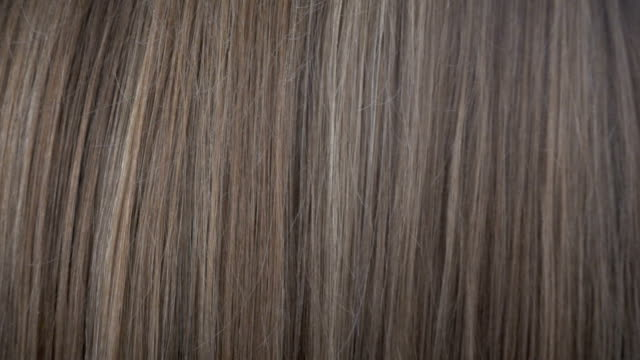 Close up view of hair care in slow motion