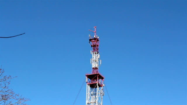 Close up view of the top of the tower video