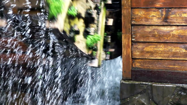 CU Close up Water wheel / Watermill
