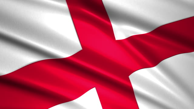 close up waving flag of England,loopable video