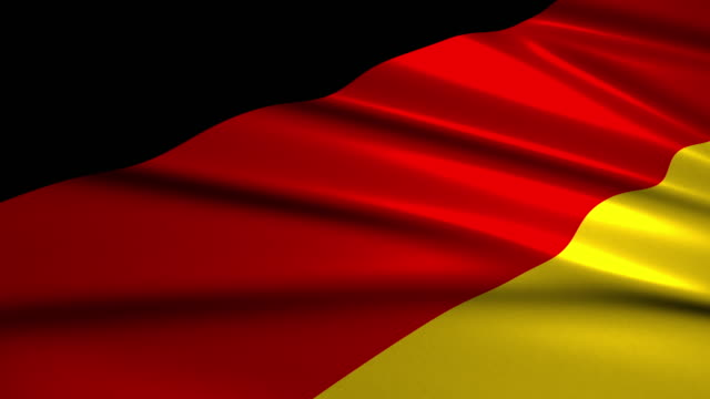 close up waving flag of Germany,loopable video