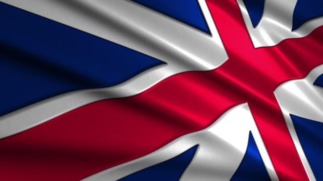 close up waving flag of  UK,loopable video