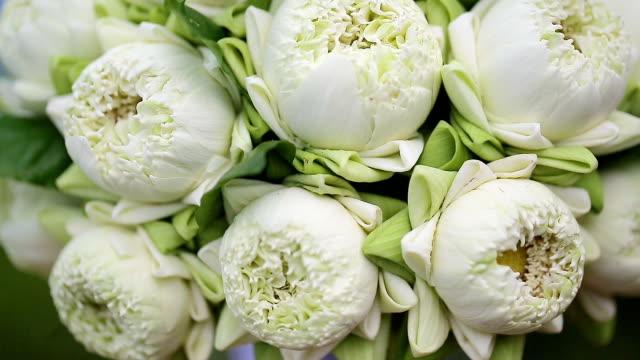Close up wedding bouquet of fresh flowers. video