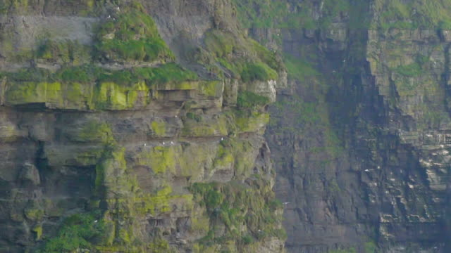 Closer look of the cliffs from the Cliffs of Moher video