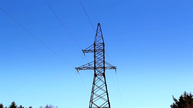 Closer look of the electricity tower video