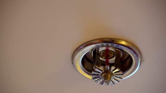 天井に火のスプリンクラーの吟味 ビデオ