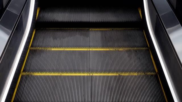 Closeup Escalators,escalators in a public area. video