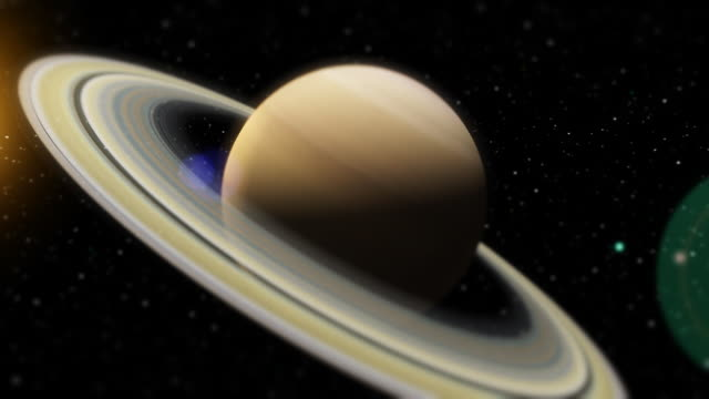 Close-up Fly-by of the Planet Saturn (HD) video