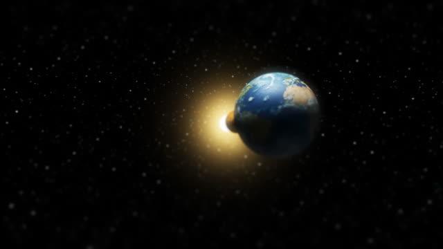 zbliżenie fly-by na układ słoneczny (hd - układ słoneczny filmów i materiałów b-roll