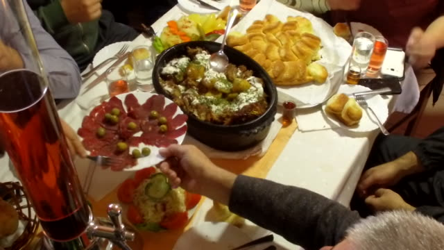 Close-up food table