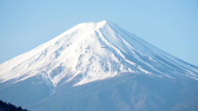 クローズ アップの富士 moutian - 富士山点の映像素材/bロール