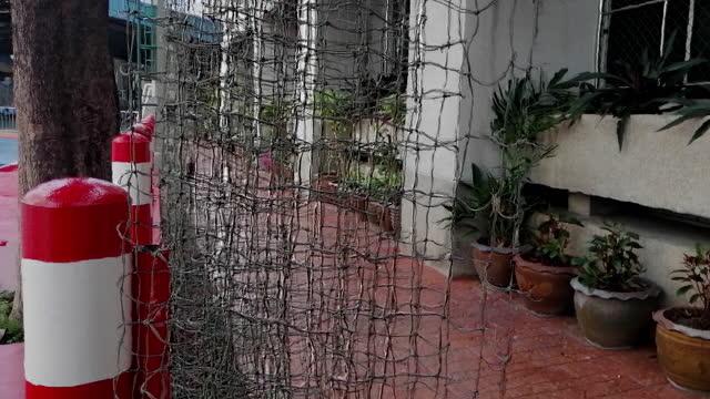 Close-up futsal barrier net