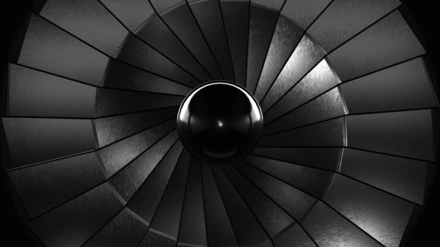 Close-up Jet Turbine (Loopable) Close-Up turbine stock videos & royalty-free footage