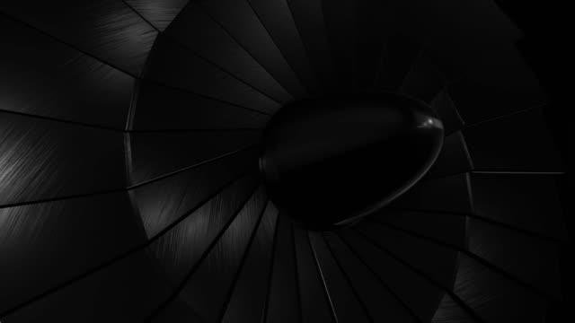 close-up jet turbine (loopable) - нержавеющая сталь стоковые видео и кадры b-roll