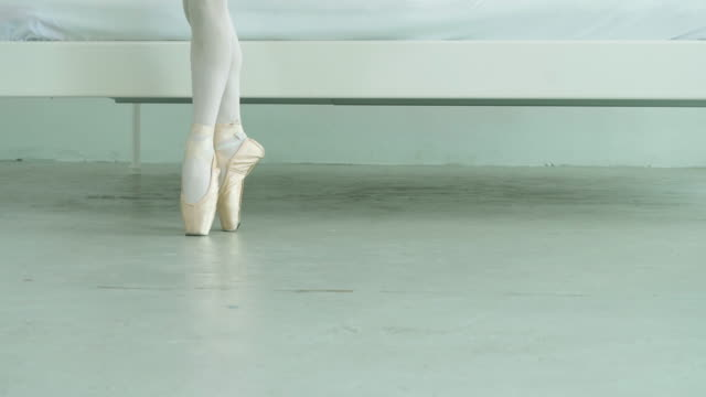 Close-up leg of ballet dancer ; slow motion Close-up leg of ballet dancer ; slow motion ballet dancer stock videos & royalty-free footage