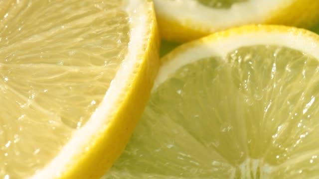 Close-up lemon slices