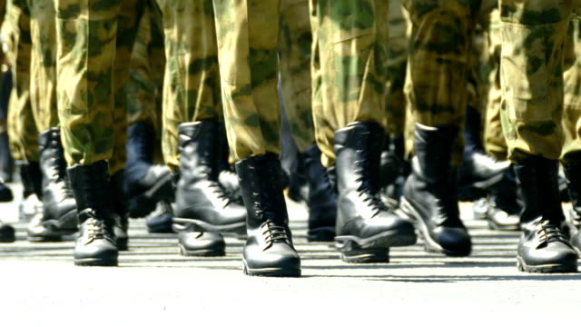 vídeos y material grabado en eventos de stock de primer plano - marcha militar - rusia