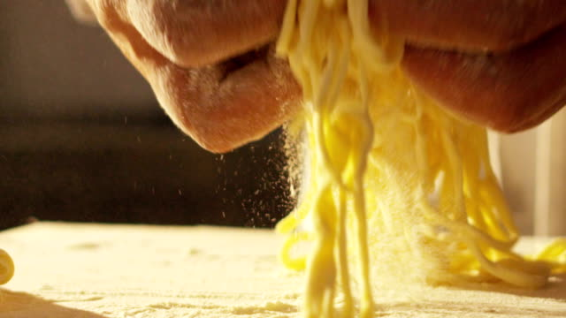 close-up of a chef preparing ravioli, a typical italian dish, homemade according to the ancient italian tradition. - italian food stock videos & royalty-free footage