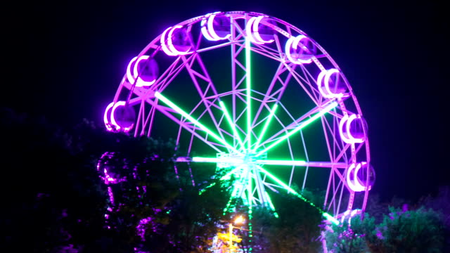 Close-up of a ferris wheel, Time-lapse. video