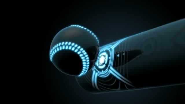 Closeup of a Futuristic Baseball Bat and Ball video