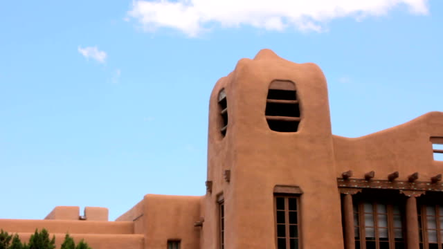 Closeup of a Historic Looking Adobe Fortress