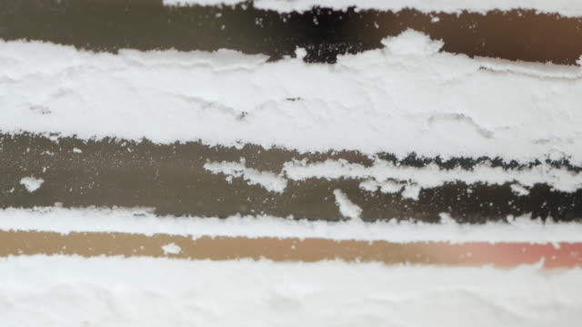 Closeup of a Line of Cocaine Being Snorted video