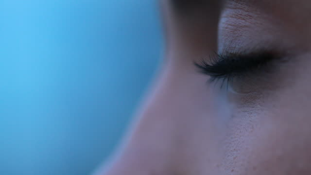 Close-up of african girl eyes thinking pensive about life
