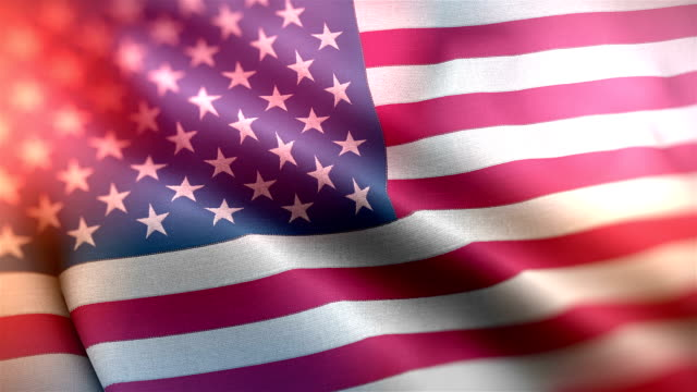 closeup of american USA flag rippled, stars and stripes, united states of america