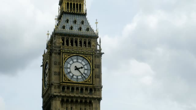 Close-up of Big Ben in London, England. video