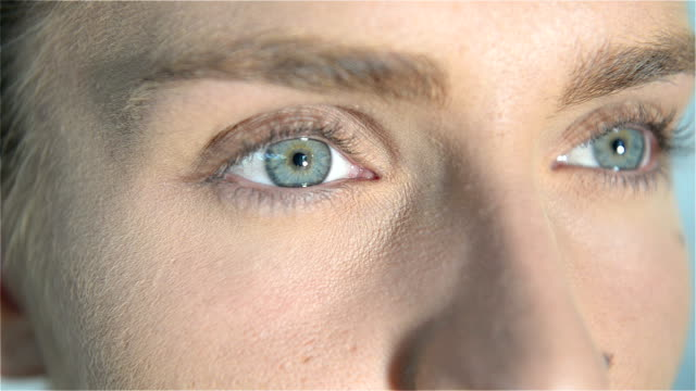 Close-up of blue eyes video