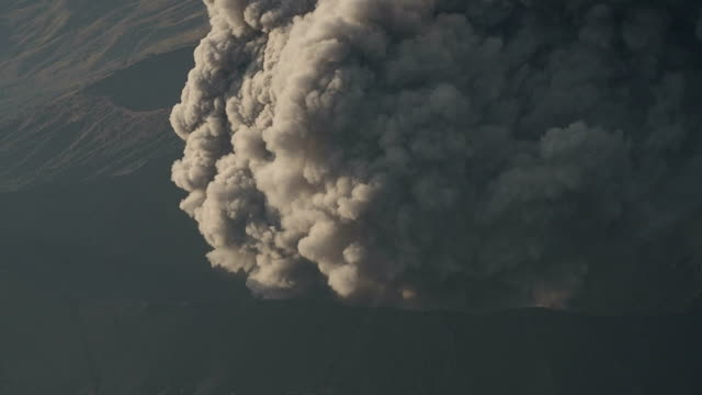 Close-up of Bromo Volcanic Smoke, Indonesia video