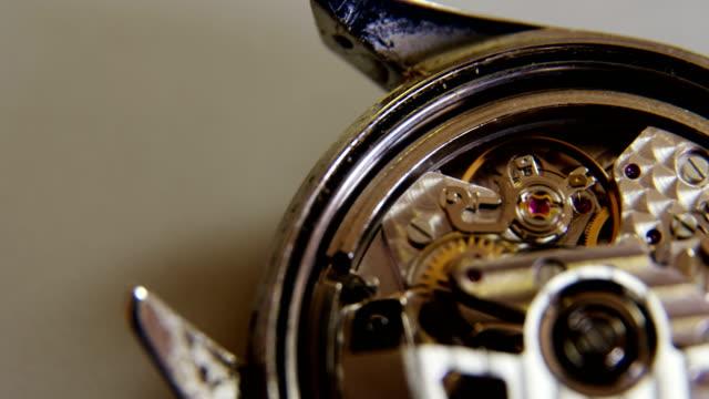 Close-up of clock parts video