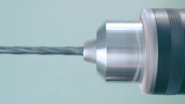 Close-up of electric drill video