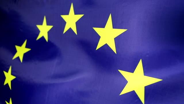 Closeup of European Union flag video