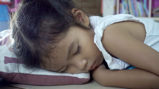 Close-up of face baby rest quietly without noise. Happiness in sleep. video