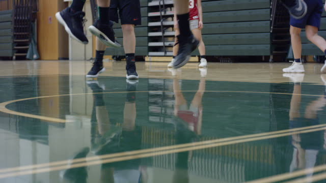 Close-Up of Female Basketball Player's Feet in the Key video