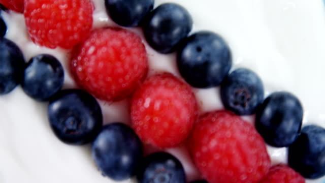 Close-up of fruit icream video