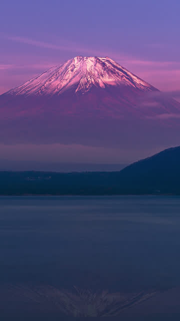 Close-up of Fuji mountain in Japan