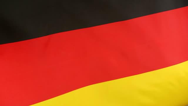 Closeup of German national flag video