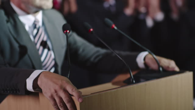 Closeup of Gesturing Politician video