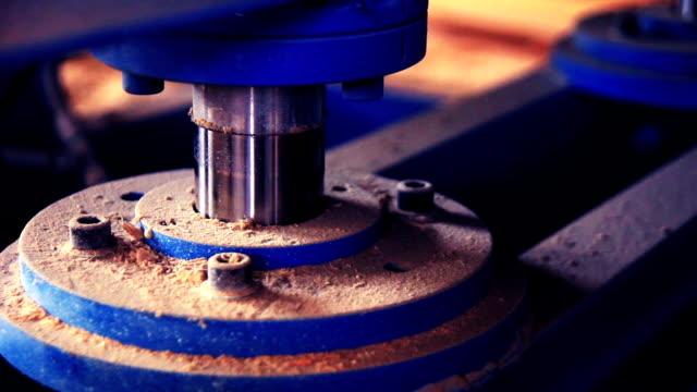 closeup of heavy machine - hydraulic press moving up video