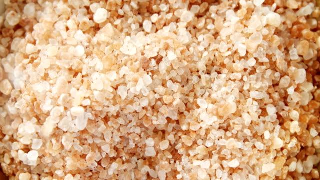Close-up of himalayan salt 4k video