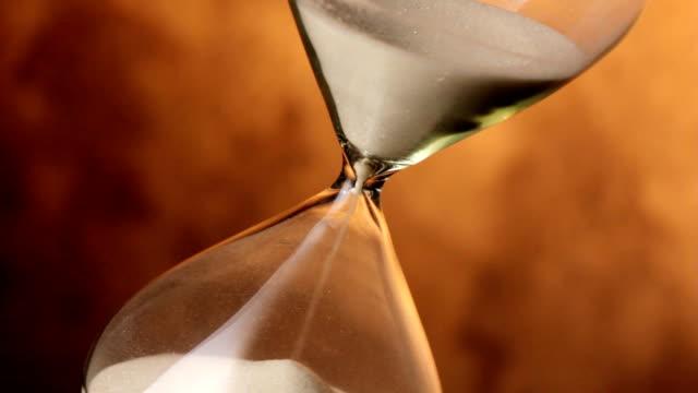 Closeup of hourglass video