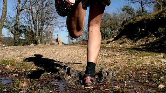 Close-up of man running video