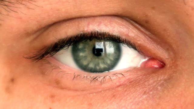 närbild av mannens öga flytta titta runt - male eyes bildbanksvideor och videomaterial från bakom kulisserna