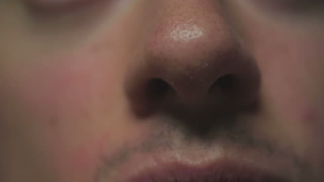 HD: Closeup of man's nose video