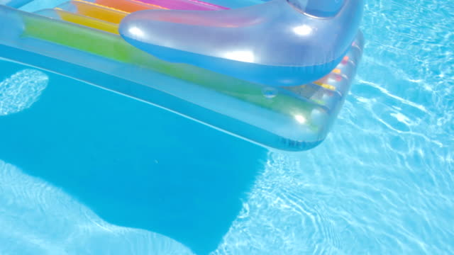 Closeup of Pool Raft Floating on a Swimming Pool video