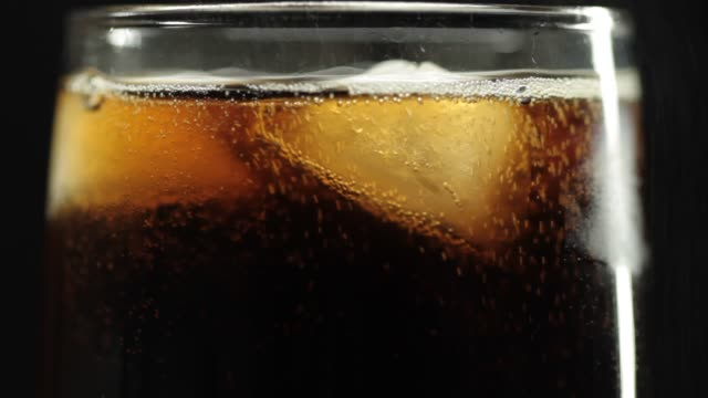 Close-up of pouring cola video