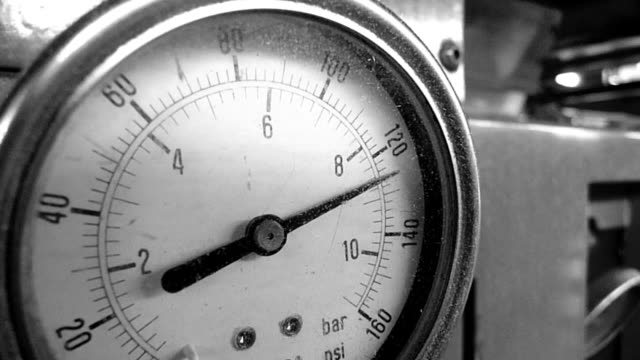 Close-up of pressure gauge video