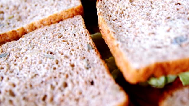 Close-up of sandwich – Video